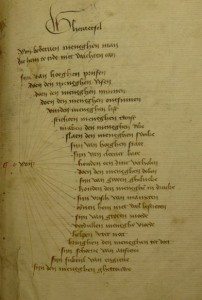 Brussels - KBR - 837-845, fol. 103r: A riddle (by courtesy of KBR Brussels)