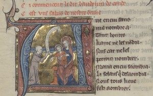Rubric and image of Baudouin de Condé precedes his collection. Paris, Bibliothèque de l'Arsenal, MS 3142 f. 300v Reproduced by courtesy of Bibliothèque nationale de France : gallica.bnf.fr/?lang=EN